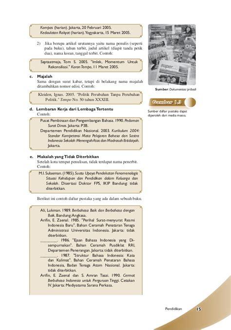 penulisan daftar pustaka badan pusat statistik sma ma kelas11 aktif dan kreatif berbahasa indonesia adi
