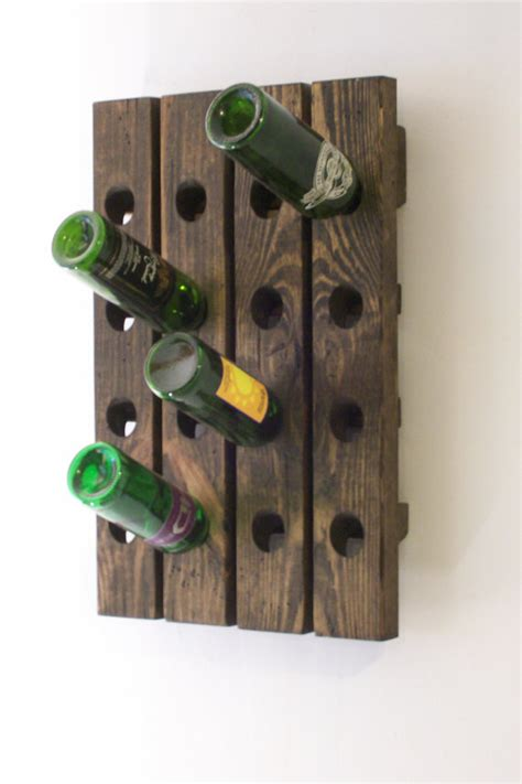 Wine Rack Board by Riddling Board Wine Rack Distressed Wood Traditional Style