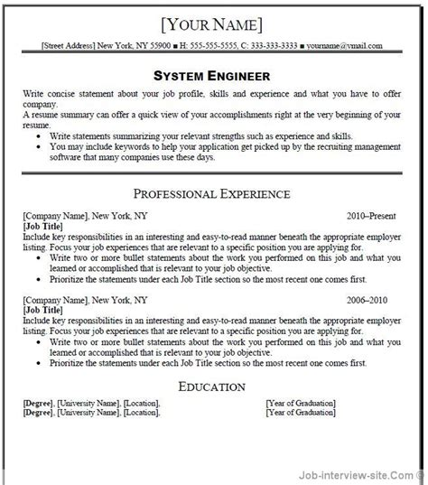 Sle Resume Profile Headline Exles Free 40 Top Professional Resume Templates