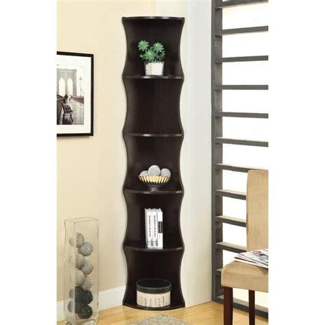 Coaster Corner Bookcase Coaster 5 Shelf Corner Bookcase In Cappuccino 801182