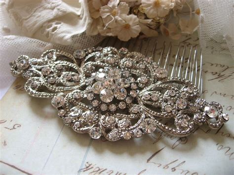 Vintage Wedding Hair Barrettes by Wedding Hair Comb Bridal Hair Comb Barrette Clip Vintage