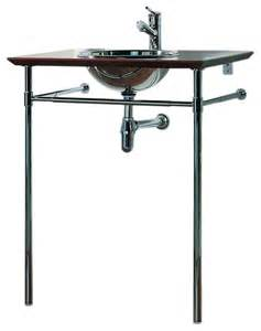 bathroom sink supports polished stainless steel drop in basin and leg