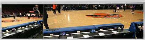 knicks bench knicks tickets scorer s table seats r the official