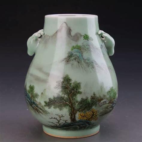 Ching Dynasty Vase by A Green Glazed Vase Ching Dynasty
