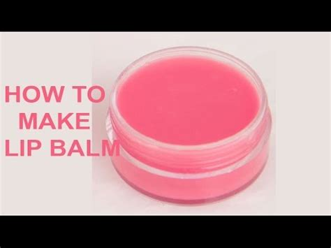 How To Make Simple Easy - how to make lip balm at home in easy way