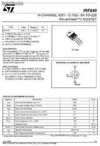transistor mosfet irf transistor irf840 mosfet 500v 8a to 220