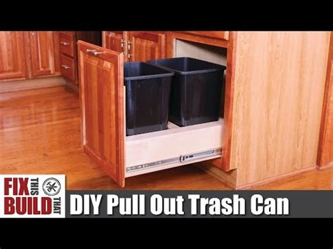 Kitchen Base Cabinet Garbage I Converted A Kitchen Base Cabinet Into A Pull Out Trash