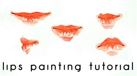 watercolor lips tutorial lips watercolor painting tutorial my crafts and diy projects