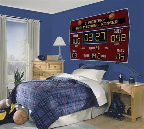 Room Score Basketball Scoreboard Personalized Peel And Stick Wall Mural