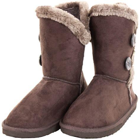 womens faux fur boots womens fur boots faux sheepskin suede button fashion snow