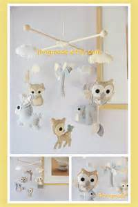 hanging mobile from ceiling baby mobile woodland mobile ceiling hanging mobile by hingmade