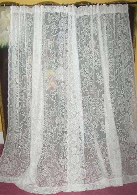 french country lace curtains vintage victorian chic french country net floral lace
