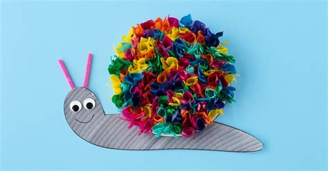 And Craft With Tissue Paper - tissue paper snail craft