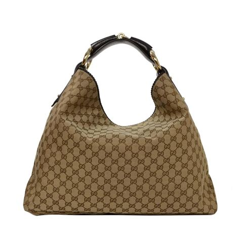 gucci tan monogram large horsebit hobo bag  stdibs