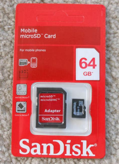 Micro Sd 64gb Sandisk memory cards sandisk 64gb sdhc micro sd sd adapter memory card rrp r900 was sold for r500 00