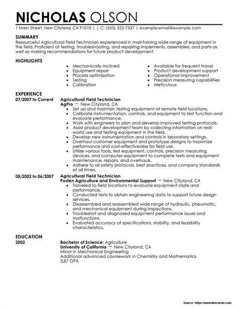 sle resume for field service technician resume resume exles bqapwp0yvz