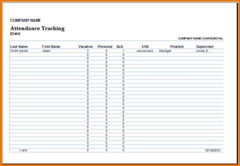 excel attendance tracker employee attendance tracker png