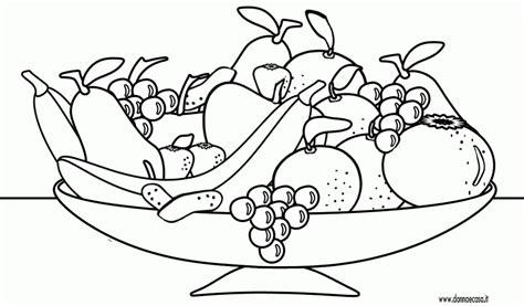 disegni da colorare fiori e frutta disegno di un cesto di frutta da colorare con disegni di