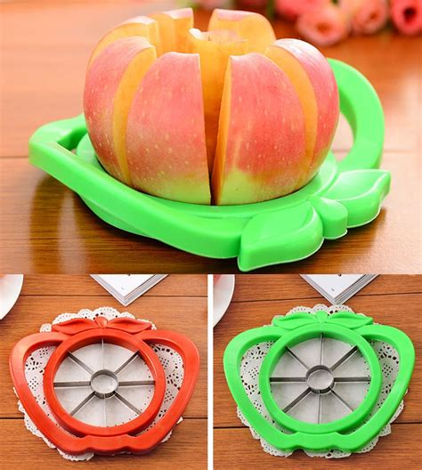jual apple slicer cutter pemotong buah apel pear pengupas potongan fruit slice stainless steel
