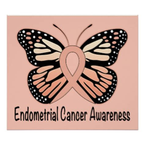 uterine cancer color endometrial cancer posters zazzle