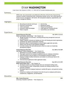 Personnel Recruiter Sle Resume by Resume Recruiter Sales