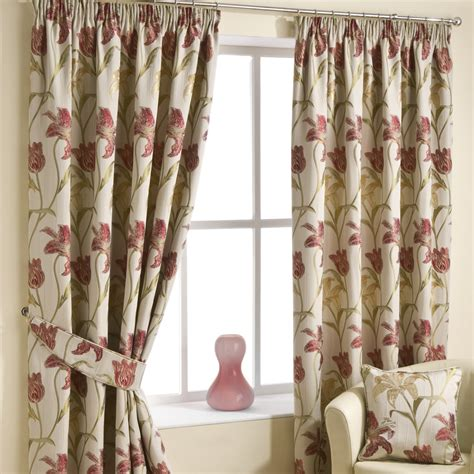 red pencil pleat curtains lily red pencil pleat luxury ready made curtains pencil