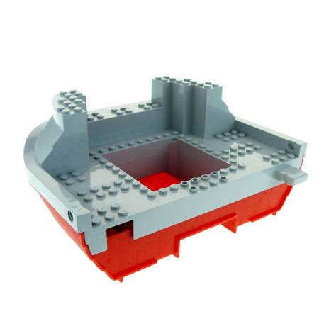 lego boat red 1 x lego brick red boat hull giant stern 16 x 22 complete