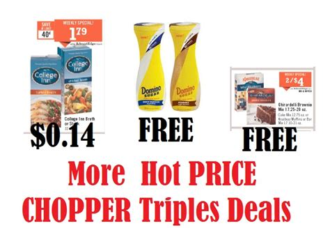 free printable grocery coupons price chopper more hot deals from price choppers triple coupon event