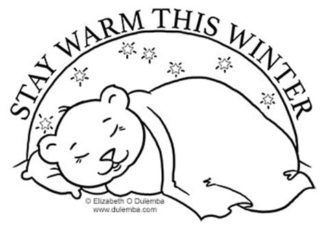 dulemba coloring page tuesday sleeping bear