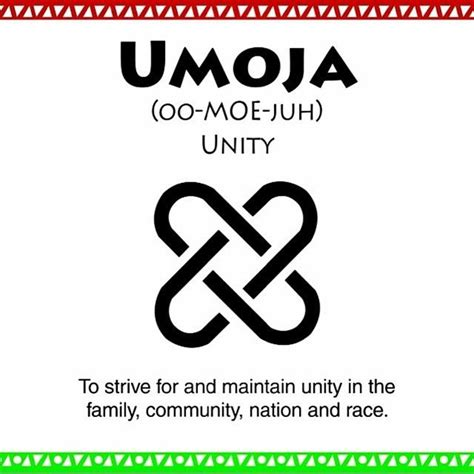 tattoo meaning unity the first principle is umoja which means unity in