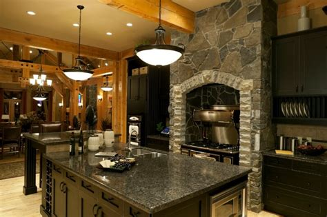52 Dark Kitchens With Dark Wood And Black Kitchen Cabinets Rustic Black Kitchen Cabinets