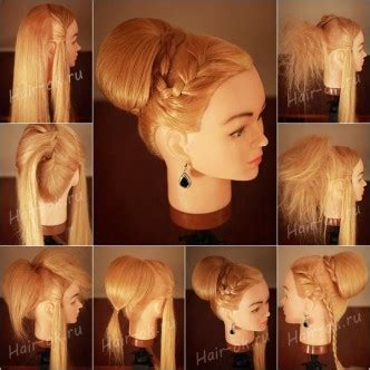how to do a bun with a decorative comb diy elegant braid high bun updo hairstyle