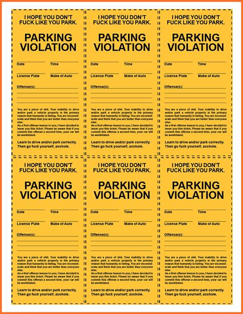 printable traffic tickets fake printable parking ticket online calendar templates