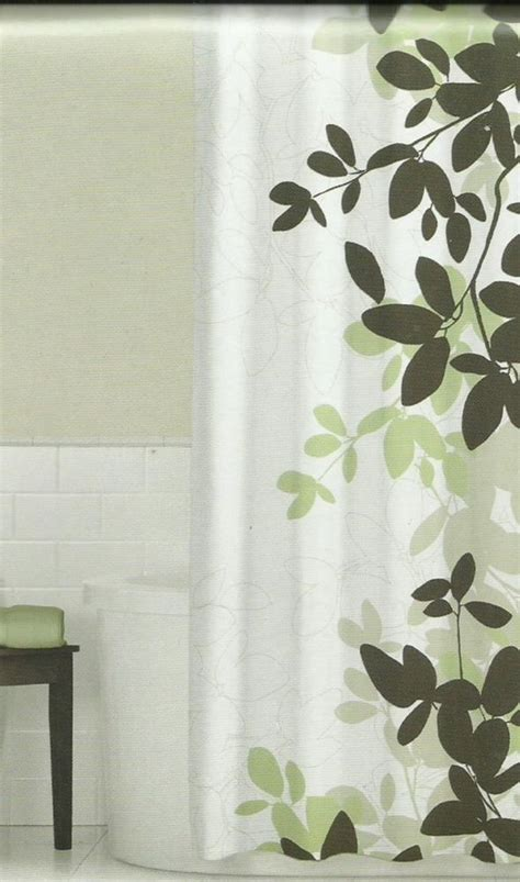 Green And Brown Shower Curtains Zen Floral Green Brown Ivory Quality Luxury Fabric Shower Curtain New Green Tans And