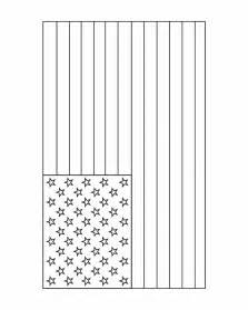 free american flag heart coloring pages
