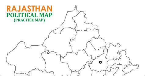 map practice learn by images rajasthan political map blank practice map