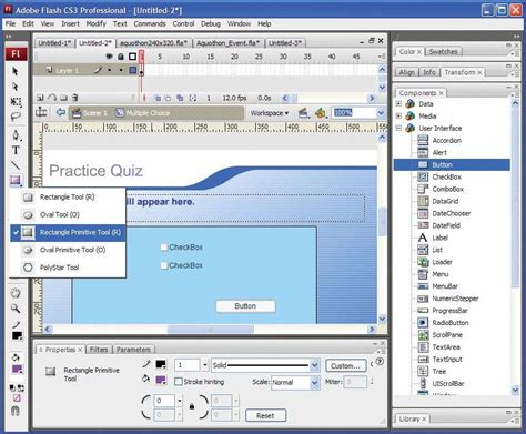 tutorial flash professional cs3 adobe flash cs3 professional web development pc tech