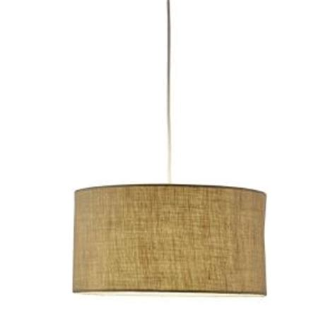 adesso harvest 1 light burlap drum pendant 4001 18 the