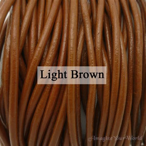 light brown color names custom multi strand 1 5 mm leather cord necklace choker