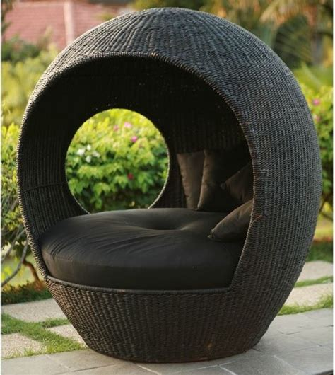 Outdoor Pod Chair by Melon Outdoor Wicker Pod Chair Outdoor Lounge Chairs