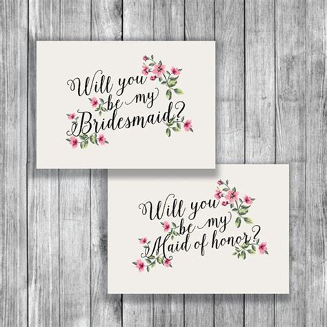 Asking Bridemaids Template Card by Printable Will You Be My Bridesmaid Card Free By