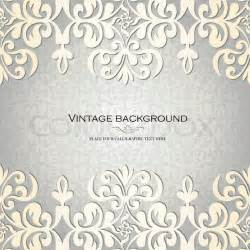 Victorian Style Home Plans Vintage Background Antique Greeting Card Invitation With