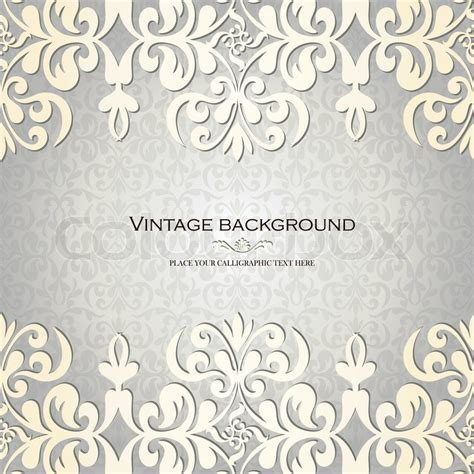 retro pattern card background vector graphic vintage background antique greeting card invitation with