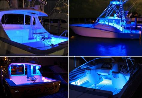 boat lights bow 4x ultra blue led boat light deck courtesy bow trailer
