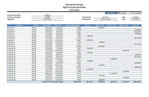 accounts receivable aging excel template