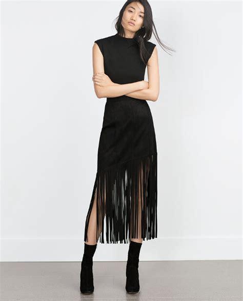 ec rok zara ruffle skirt image 1 of fringed skirt from zara fashion