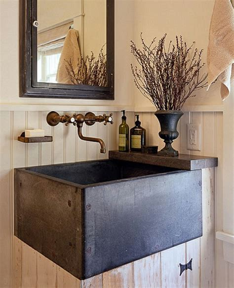 waschbecken rustikal 23 fantastische rustikale badezimmer design ideen