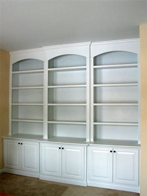 Another Built In Bookcase Idea Built In Units For The Pre Made Bookshelves