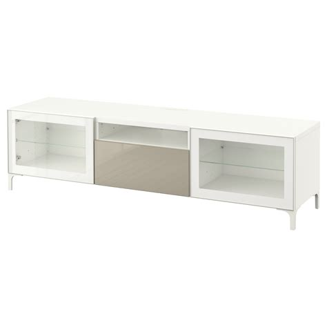 white gloss tv bench best 197 tv bench white selsviken high gloss beige clear