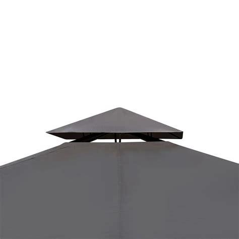 pavillon 2 x 4 m der pe rattan pavillon mit dunkelgrauem dach 3 x 4 m